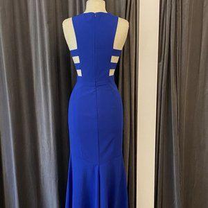 Theia Royal Blue Crepe Bridesmaid